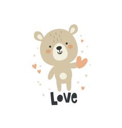 cute adorable teddy bear vector image