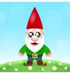 Cute Cartoon Garden Gnomes vector