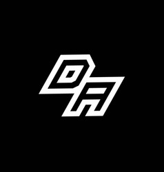 Da logo monogram with up to down style negative vector