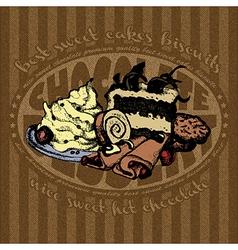 Dessert background RGB vector