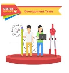 Development Team People Design Flat vector