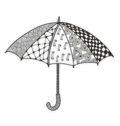 Doodle umbrella for coloring vector