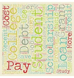 Eight Ways To Pay Off Student Loan Debt text vector