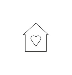 Favorite home icon vector