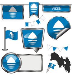 Flag viken norway vector