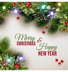 Flat Christmas Background vector image