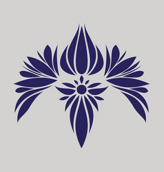 Flat icon on theme arabic business oriental flower vector