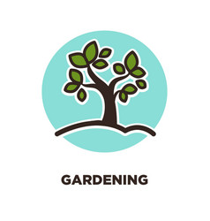 gardening as leisure activity and useful hobby vector image