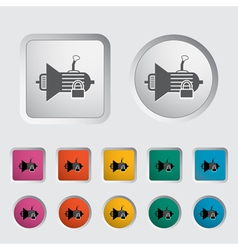 Gear lever lock vector image