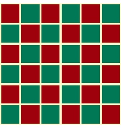 Green Red Grid Chess Board Red Background vector