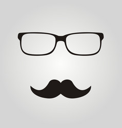 Hipster glasses and mustaches vector