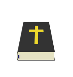 holy bible with blue bookmark perspective art vector image