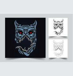 horror dog artwork vector image