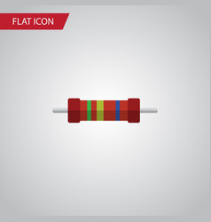 isolated resistor flat icon resistance vector image
