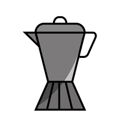 Kettle coffee drink flat icon vector