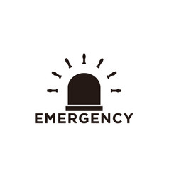 lamp ambulance emergency logo vector image