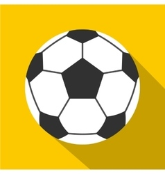 Leather soccer ball icon flat style vector