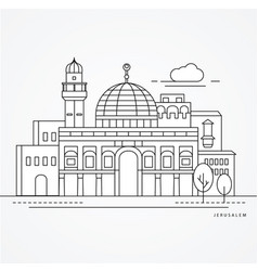 linear jerusale israel flat one vector image