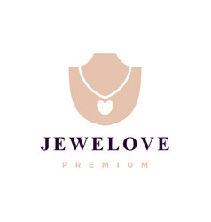 love jewelry necklace logo icon vector image