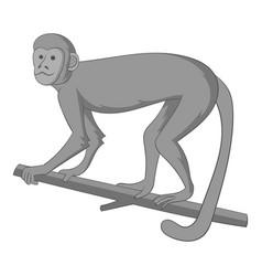 macaque icon monochrome vector image