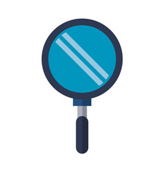 magnifying glass search isolated vector image