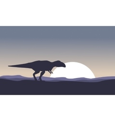 Mapusaurus at night scenery vector