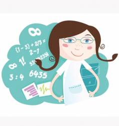 Math girl vector