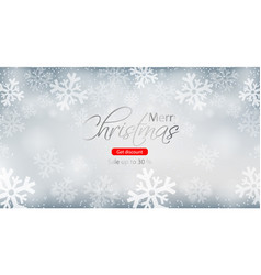 merry christmas winter sale brochure vector image