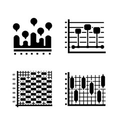 modern charts glyph icons vector image