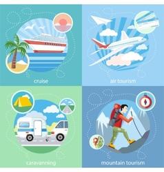 Mountain cruise air tourism vector image