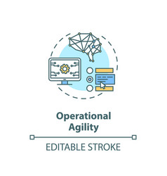 Operational agility concept icon vector