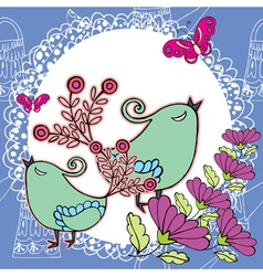 peacock doily pattern vector image