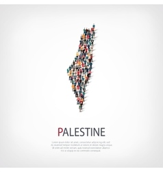 People map country Palestine vector