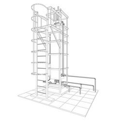 petroleum gas installation tracing vector image