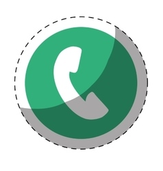 Phone icon button thumbnail vector