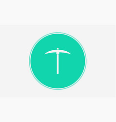 pickaxe icon sign symbol vector image