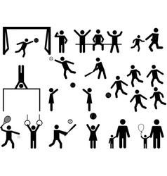 pictograph people fun and sport activity vector image