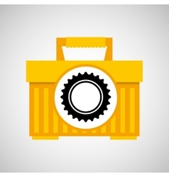 plastic tool box gear construction vector image