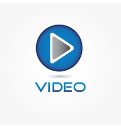 Play video button design template vector image