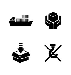 priority shipping simple related icons vector image