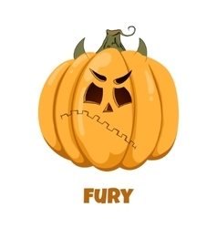 Pumpkin for Halloween Emotions Fury vector