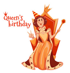 queen birthday celebration vector image