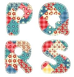 Quilt alphabet vector