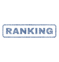 Ranking textile stamp vector