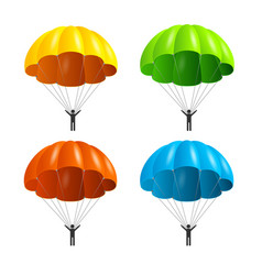 realistic detailed 3d color parachute and black vector image