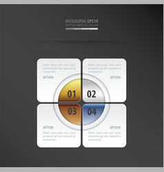 Rectangle presentation design gold bronze vector
