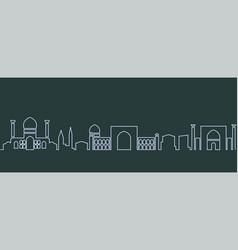 Samarkand single line skyline vector