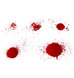 set blood splashes vector image