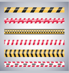 set caution danger tapes warning security vector image