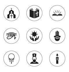 set of 9 editable dyne icons includes symbols vector image